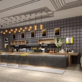 工业风咖啡厅3D模型【ID:127846033】