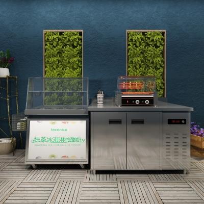 現代炒冰機烤腸機擺件組合3D模型【ID:827815360】
