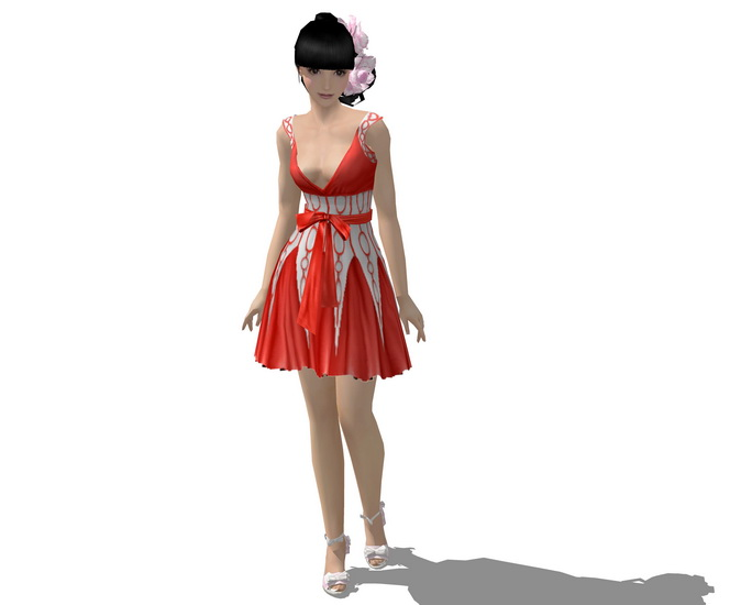 3D女人物SU模型【ID:136337772】