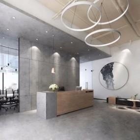 现代办公室3D模型【ID:728319605】