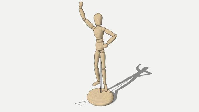 木質人體模型SU模型【ID:639429701】