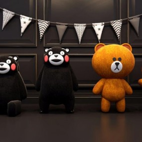 熊本布朗熊玩偶3D模型【ID:528280246】