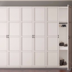 现代实木衣柜3D模型【ID:928564952】