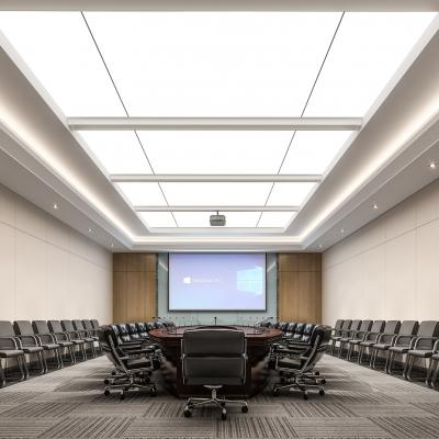 现代办公大会议室3D模型【ID:728470846】