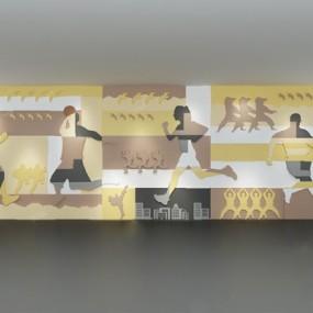 现代背景墙3D模型【ID:326232532】