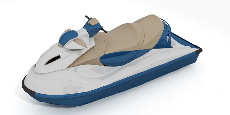 现代摩托艇3D模型