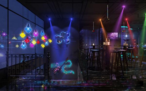工業風酒吧3D模型【ID:848245098】
