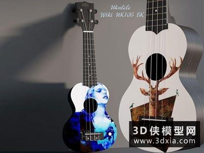吉他国外3D模型【ID:229595000】