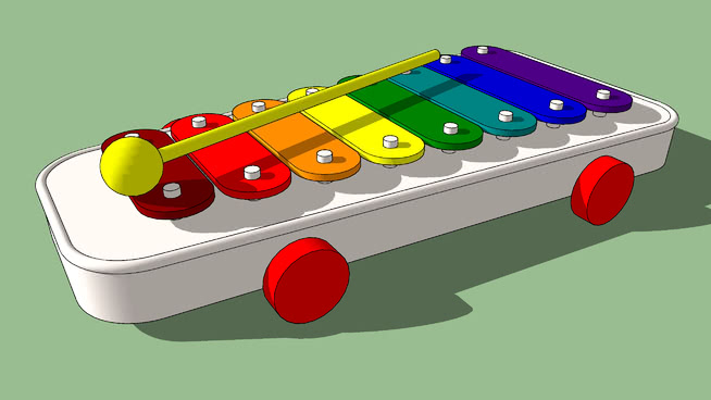 玩具木琴SU模型【ID:639434734】