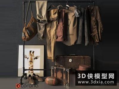 衣服組合國外3D模型【ID:929346673】