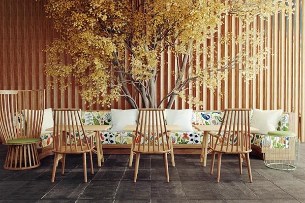咖啡厅卡座沙发椅子3D模型【ID:127846000】