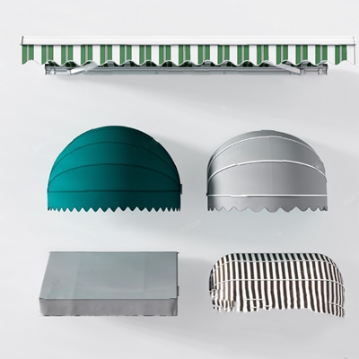 現代遮雨棚3D模型【ID:826222447】