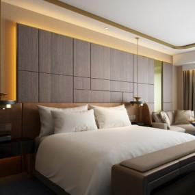 现代酒店客房3D模型【ID:428444601】