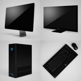 现代电脑主机键盘组合3D模型【ID:227780620】