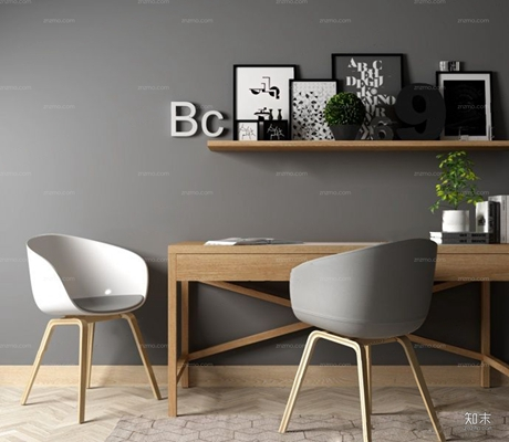 現代書桌椅3D模型【ID:327914787】
