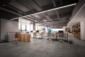 工业风敞开式办公室3D模型【ID:927826557】