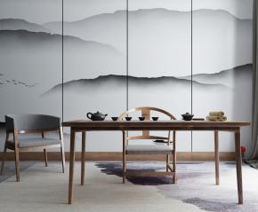 新中式茶桌椅茶具3D模型【ID:327787683】