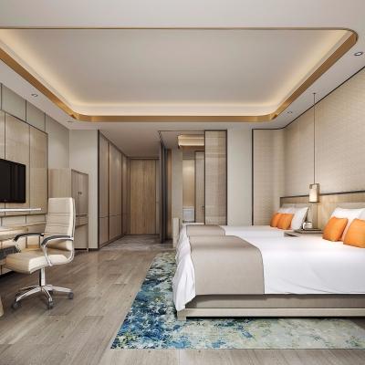 现代酒店客房双人房3D模型【ID:427795682】