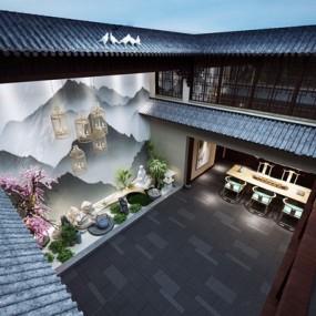 新中式中庭3D模型【ID:227884134】