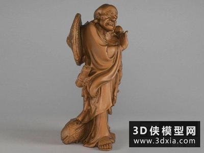 罗汉佛像雕塑国外3D模型【ID:929556740】