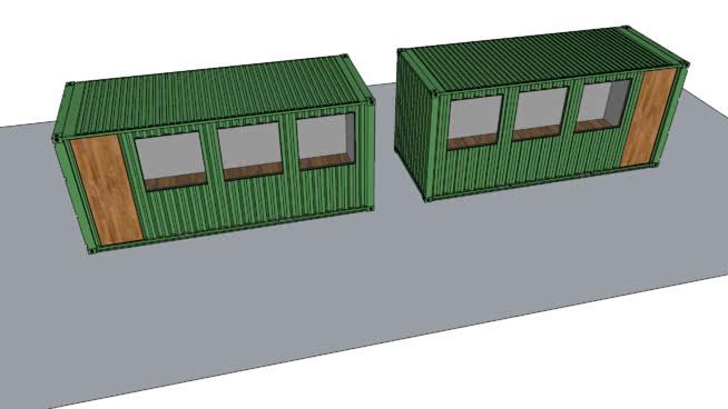 集装箱运输船SU模型【ID:839439468】