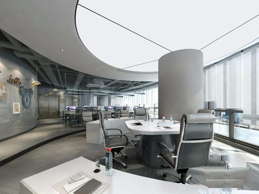 现代办公区3D模型【ID:728086602】