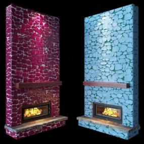 自然风石头壁炉组合3D模型【ID:831406197】