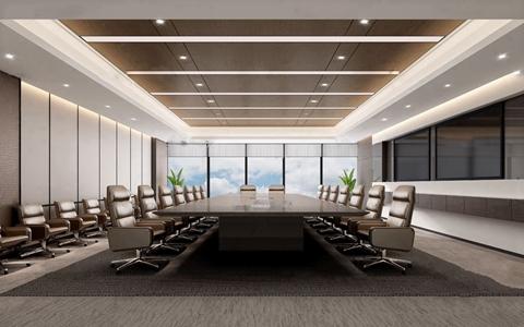 现代办公会议室3D模型【ID:731405889】
