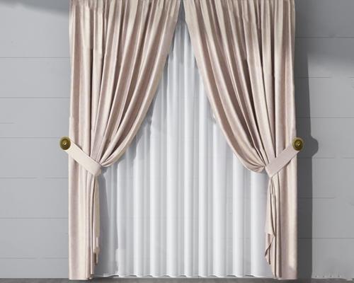 现代窗帘3D模型【ID:720619608】