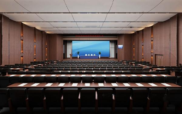 現代大會議室報告廳3D模型【ID:946209107】