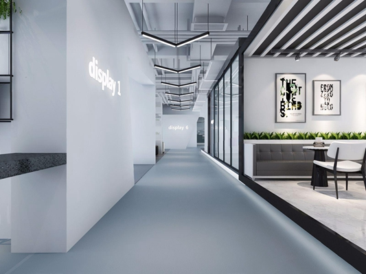 現代办公楼大堂3D模型【ID:528153927】