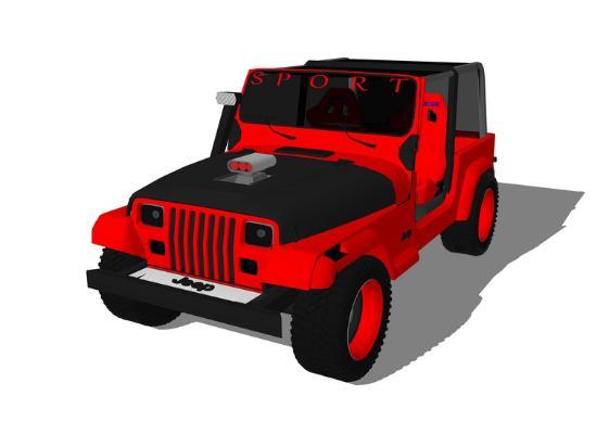 越野車SU模型【ID:846374128】