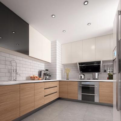 北欧厨房橱柜3D模型【ID:127768440】