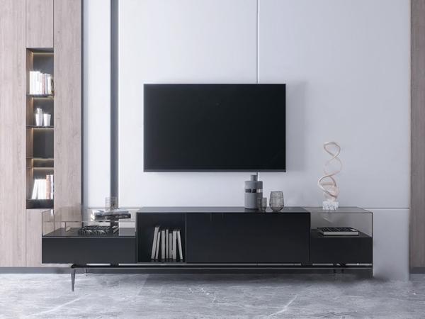 現代電視柜3D模型【ID:946258951】