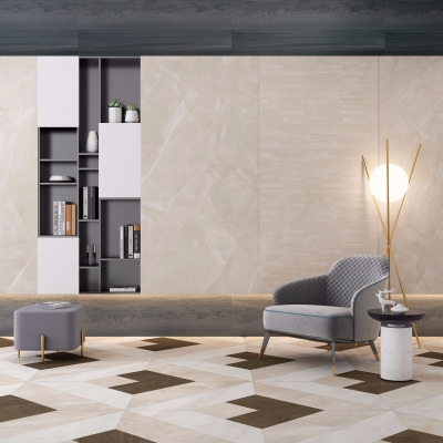 现代布艺休闲沙发圆几装饰柜组合3D模型【ID:127777212】