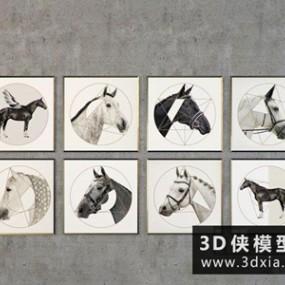 现代马装饰画】