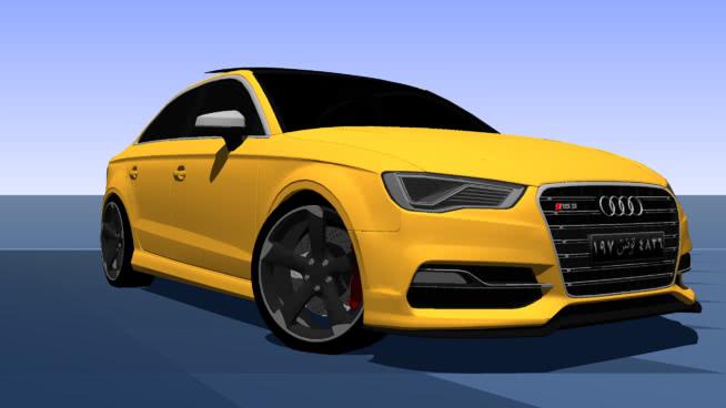 2016年奧迪RS3轎車(?beta?)SU模型【ID:437348912】
