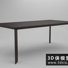 现代餐桌国外3D模型【ID:729765720】