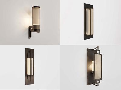 新中式壁灯3D模型【ID:520800929】