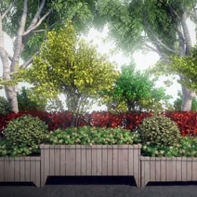 室外景观绿植组合3D模型【ID:136238442】