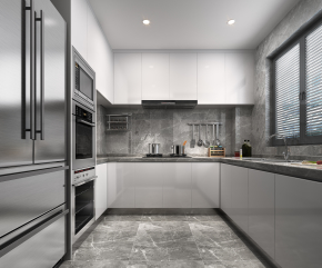现代厨房橱柜3D模型【ID:927831542】