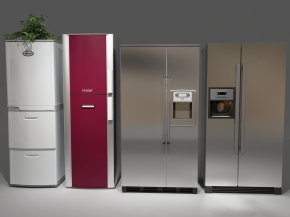 現代冰箱組合3D模型【ID:127755248】