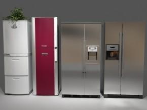 现代冰箱组合3D模型【ID:127755248】
