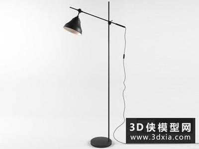现代落地灯国外3D模型【ID:929608009】