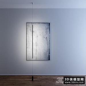 博物館壁燈國外3D模型【ID:929330155】