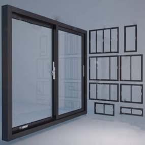 现代窗下载3D模型【ID:419606937】