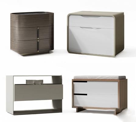 床头柜3D模型【ID:920610640】