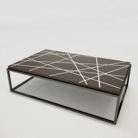 现代棕色长方形铁艺板式茶几365彩票【ID:114892562】