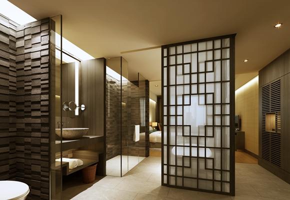 新中式酒店卫生间3D模型【ID:114920048】