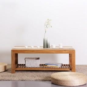 新中式原木色木艺板式茶几3D模型【ID:114920520】